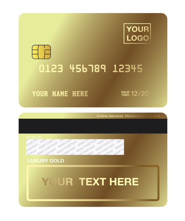 MCK-luxury Custom gold card